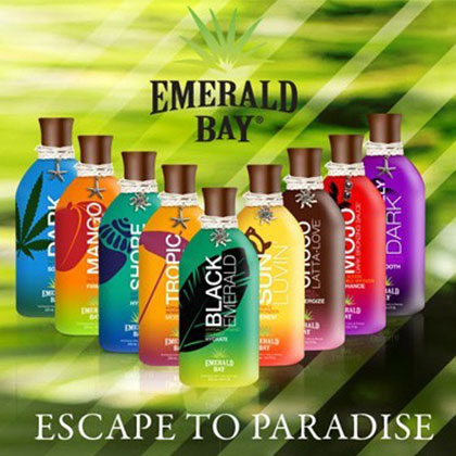 Tan-Go Suncenter, Emerald Bay zonnebankcrème en zonnebrand creme